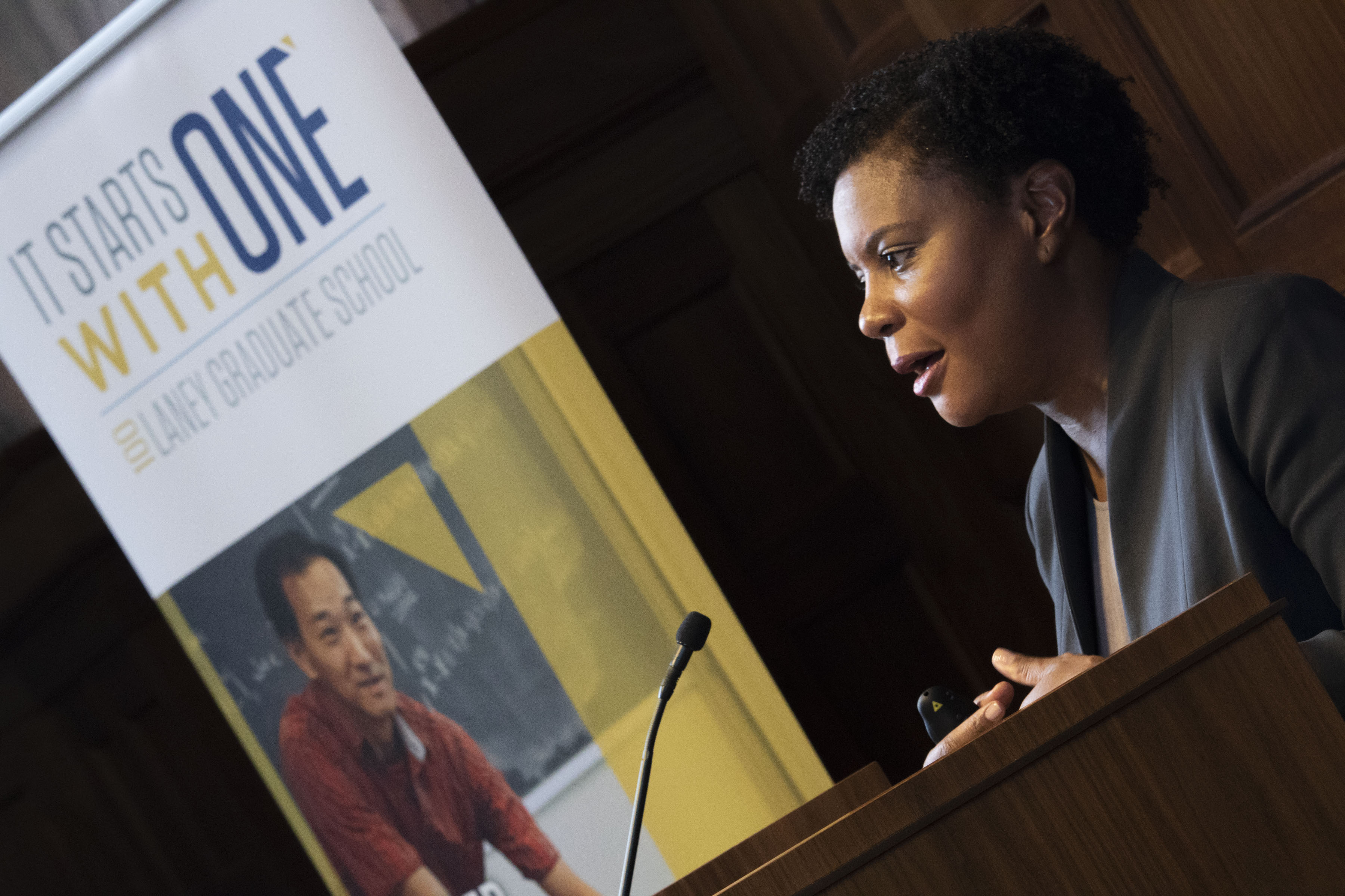 Alondra Nelson leads discussion during Centennial Lecture Series